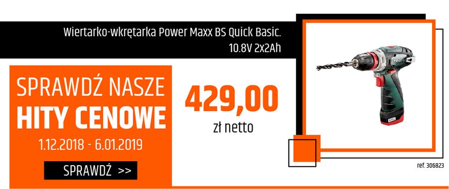 Wiertarko-wkrętarka Power Maxx BS Quick Basic. 10.8V 2x2Ah