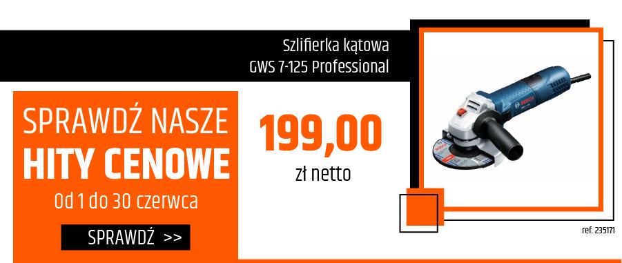 Szlifierka kątowa GWS 7-125 Professional