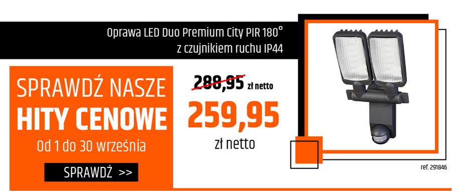 Oprawa LED Duo Premium City PIR 180° z czujnikiem ruchu IP44