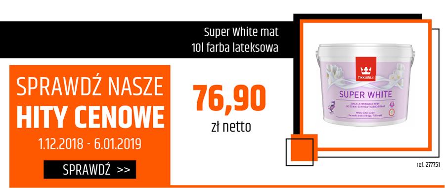 Super White mat 10l farba lateksowa