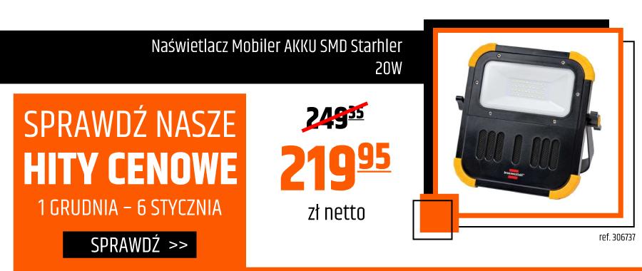 Naświetlacz Mobiler AKKU SMD Starhler 20W