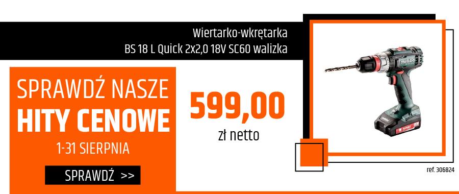 Wiertarko-wkrętarka BS 18 L Quick 2x2,0 18V SC60 walizka