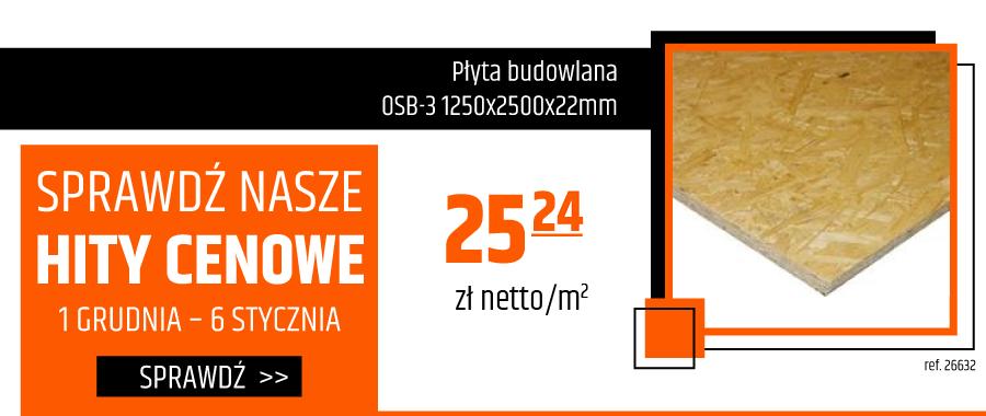 Płyta budowlana Osb-3 1250x2500x22mm