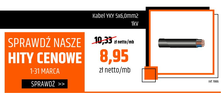 Kabel YKY 5x6,0mm2 1kV