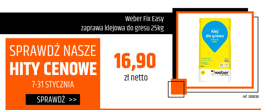 Weber Fix Easy zaprawa klejowa do gresu 25kg
