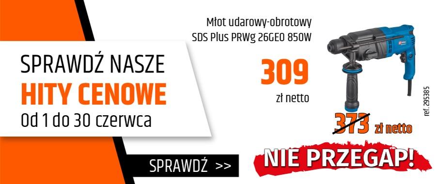 Młot udarowy-obrotowy SDS Plus PRWg 26GEO 850W