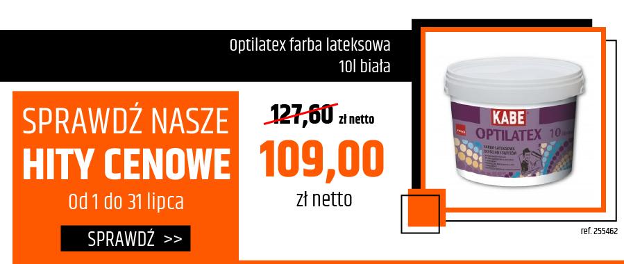 Optilatex farba lateksowa 10l biała