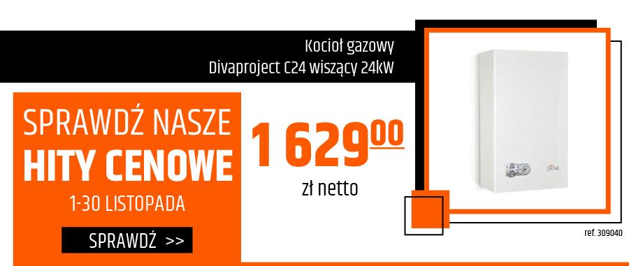 Kocioł gazowy Divaproject C24 wiszący 24kW