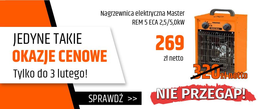 Nagrzewnica elektryczna Master REM 5 ECA 2,5/5,0kW
