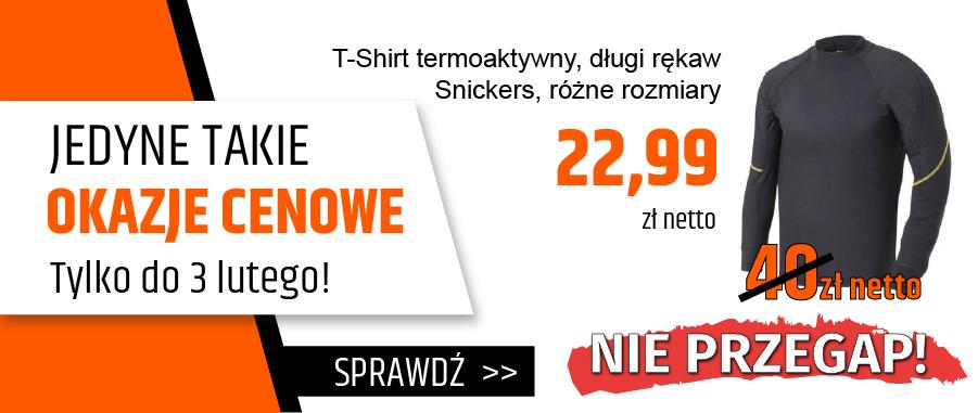 T-Shirt termoaktywny długi rękaw Snickers