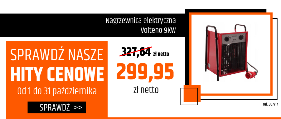 Nagrzewnica elektryczna Volteno 9KW
