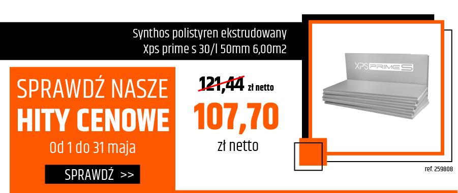 Synthos polistyren ekstrudowany Xps prime s 30/l 50mm 6,00m2