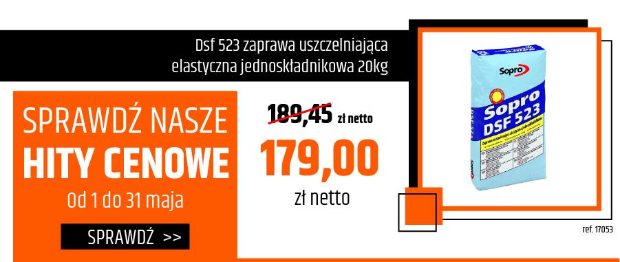 Dsf 523 zaprawa uszczelniająca elastyczna jednoskładnikowa 20kg