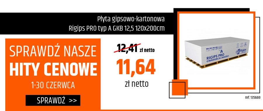 Płyta gipsowo-kartonowa Rigips PRO typ A GKB 12,5 120x200cm