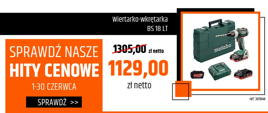 Wiertarko-wkrętarka BS 18 LT 2x LiHD 18V/3,5Ah 1x 18V/4,0Ah