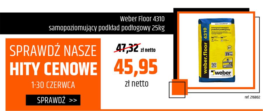 Weber Floor 4310 samopoziomujący podkład podłogowy 25kg