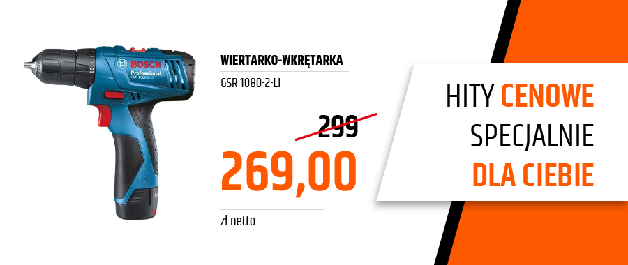 Wiertarko-wkrętarka GSR 1080-2-Li