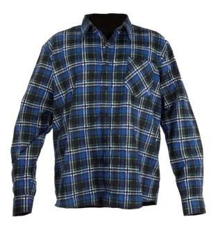 Koszula flanela M niebieska
