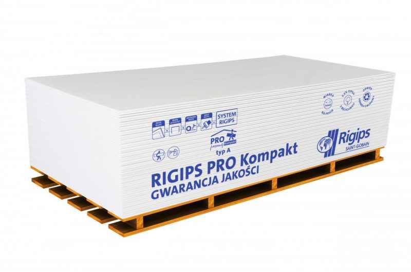 Płyta gipsowo-kartonowa Rigips Pro Kompakt typ A GKB 12,5x900x1800mm