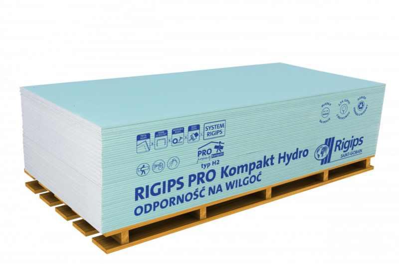 Płyta gipsowo-kartonowa Rigips Pro Kompakt typ H2 GKBI 12,5x900x1800mm