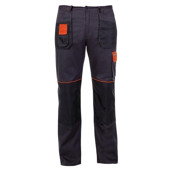 Spodnie M (50) grafitowo-pomarańczowe