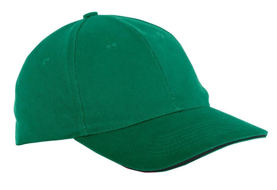 Czapka z daszkiem zielona
