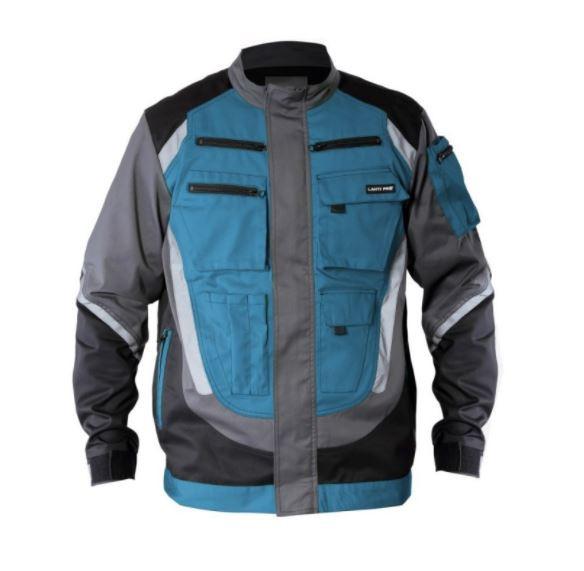 Bluza z pasami odblaskowymi 2XL czarno-szaro-turkusowa