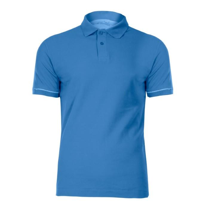Koszulka polo L niebieska
