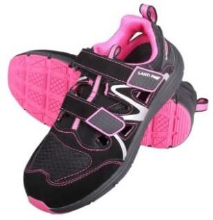 Sandały damskie r.36 S1 SRC czarno-różowe