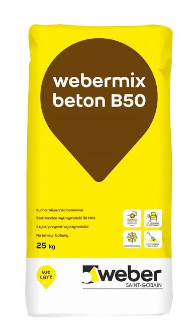 Webermix B50 Szybki beton 25kg