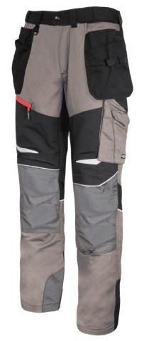 Spodnie Slim Fit XL khaki-czarne