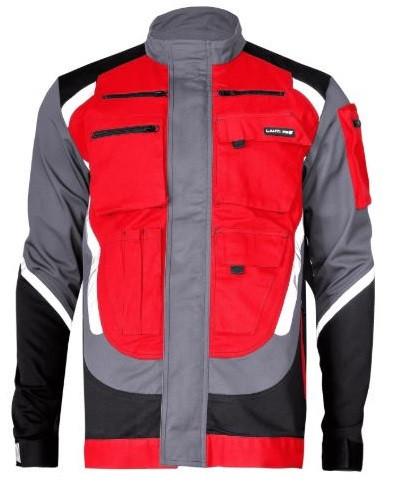 Bluza z odblaskami 2XL czarno-szaro-czerwona LahtiPro