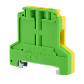 Złączka szynowa gwintowa ochronna 4,0mm2 TS 35 żółto-zielony