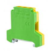Złączka szynowa gwintowa ochronna 10,0mm2 TS 35 żółto-zielony