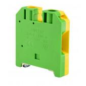 Złączka szynowa gwintowa ochronna 16,0mm2 TS 35 żółto-zielony