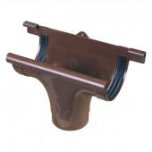 Wylot rynny 75/53mm PCV brązowy Marley