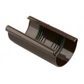 Łącznik rynny 70mm PCV brązowy Marley