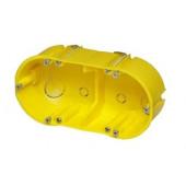 Puszka instalacyjna PK-2x60 do ścian g-k IP20 żółta