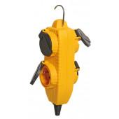 Rozgałęźnik Powerblock 4 gniazda 230V 16A IP44 żółty
