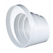 Redukcja kanału okrągłego wielostopniowa 100-150mm biała