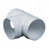 Trójnik kanału okrągłego 100mm biały