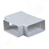 Trójnik kanału płaskiego 75x150mm poziomy biały
