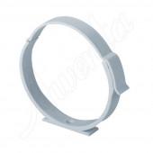 Uchwyt kanału okrągłego 125mm biały