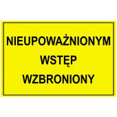 TABLICA OSTRZ. ''NIEUP.WST.WZB.''