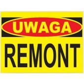 Tablica ostrzegawcza ''UWAGA REMONT'' 25x35