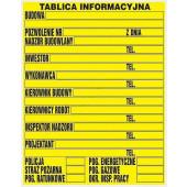 Tablica informacyjna budowlana 70x90