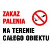 Tablica informacyjna Zakaz palenia na terenie całego obiektu
