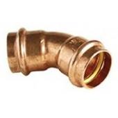 ŁUK CU-B PRESS GAS 15/45st 2-KIELICHOWY