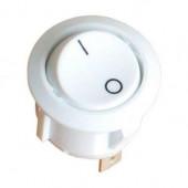 Wyłącznik kołyskowy okrągły biały