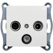Gniazdo lumina2 RTV-SAT przelotowe białe